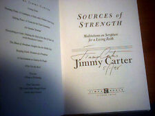 JIMMY CARTER SOURCES OF STRENGTH 1997 Hand SIGNED & Dated FIRST ED HcDJ Faith VG