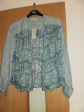 M & S Indigo Open Blouse Size 8 BNWT