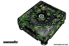 Skin Decal Sticker Wrap for Pioneer CDJ 1000 Turntable DJ Mixer Pro Audio WEED K