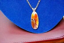 Sterling silver scenic jasper  pendant necklace,