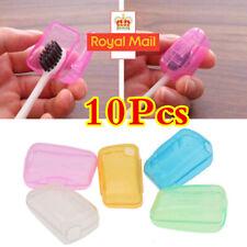 10x Portable Toothbrush Head Covers Travel Camping UK Holder Brush Cap Case Set✅