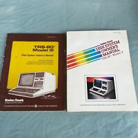 TRS-80 Radio Shack Model III/4 Disk System Owner's Manual VTG Computer Book 1980
