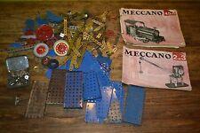 Lot de Meccano ancien + 2 Notices pour boîtes 2, 3, 4, 5 et 6