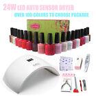 Sun9s 24W LED Auto Lamp Clou Beaute UV Gelish Kit Set Gel Nail Polish Soak Off