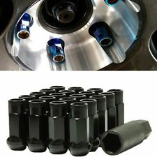 For Subaru Nissan Infiniti M12X1.25 Wheel Rim Screw Black Racing Lug Nuts 20Pcs