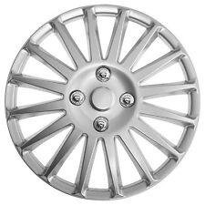 Velocidad de la rueda de 13 pulgadas Adorno Toptech Plata Set Conjunto de 4 cubiertas de Tapacubos