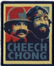Cheech and Chong Embroidered Patch / Iron On Applique, Pot, Weed, Movies
