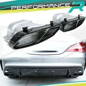 CLA45 AMG Auspuffblenden Endrohrblende für Mercedes Benz W176 A45 AMG C117 X117