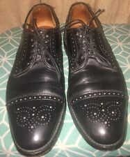 ALLEN EDMONDS Sanford Mens Shoes Size 9.5 b Black Leather Dress Shoes •