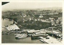 Lausanne Schweiz Switzerland Suisse Zeppelin Airship Dirigible CARD IMAGE 30s