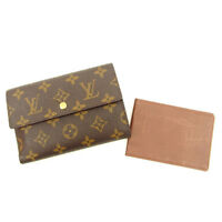 Louis Vuitton Wallet Purse Trifold Monogram Woman Authentic Used Y5301