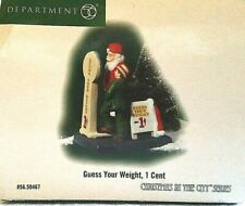 Dept 56~Christmas in the City Series~Guess Your Weight, 1 Cent~#59467~Mib