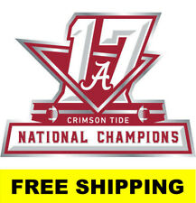Alabama Crimson Tide 2017 2018 Champions STICKER DECAL 17-Time National WOW !!!