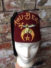 VINTAGE 1940s USA ABU-BEKR SHRINE CLUB FEZ HAT SHRINERS FRATERNITY FREEMASONS