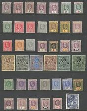 SIERRA LEONE 1902-32 FINE MINT RANGE INCLUDING EVII&GV TO 5/- CAT £365