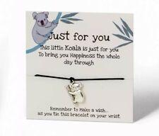 Koala Bear Wish String Bracelet Tibetan silver Charm Friendship bracelet 680