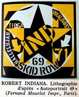 1973 Fine ROBERT INDIANA & HANS HARTUNG original LITHOGRAPHS XX Siecle ART BOOK