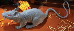 GRAY Rat Prop Realistic Size Halloween Big Large Mouse Decor Plastic Rubber