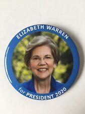 "2020 Senator Elizabeth Warren for President 3"" Button Pin"