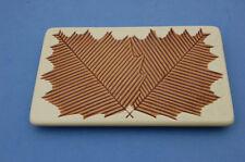 Dessous de plat rectangulaire  ancien - Feuilles incrustées