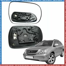 Right driver side wing mirror heated glass for Lexus RX300 350 RX400h 03-08