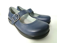 ALEGRIA EUR 39 US 9M Kourtney Blue Leather Mary Janes Womens Professional Shoes