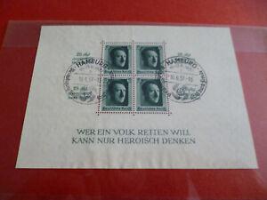 deutsches reich 1937 block nr.9 gestempelt