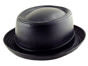 k.I Co.FAUX LEATHER PORK PIE HEISENBERG BREAKING BAD Style Porkpie Hat Cap