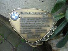 German BMW Award Trophy Badge - Victories 1971 - Cars & Motorcycles Winner