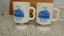 2 footed coffee cups mugs made n USA CAPT. ANDERSON DINNER BOAT. FLA