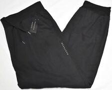 Sean John Jogger Pants Men's 3XB 3X 3XL Logo Fleece Sweatpants Black Urban N820