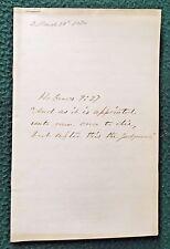 Bible Studies HEBREWS 9:27 Manuscript Religious Tract 1870 HANDWRITTEN PAMPHLET