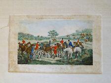 ~ antique R. ACKERMANN Stag Hunt ENGRAVED PRINT ~ hand-colored H Alken J Harris