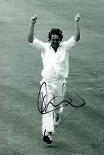 Ian BOTHAM Signed Autograph 12X8 Cricket 100th Test Wicket Photo AFTAL COA