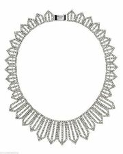 Juicy Couture All Over Pave Geo Crystal Drama Statement Womens Necklace YJRU6823