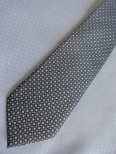 Maine Bay Traditionals Narrow Checked Black Gray White handmade Necktie Preppy