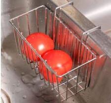 Kitchen Hang Sink Caddy Sponge Holder Stainless Steel Organizer Soap Rack Metal