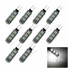 10X White 13  LED 5050 SMD G4 Energy Saving Light Bulb Lamp Marine Camper T008