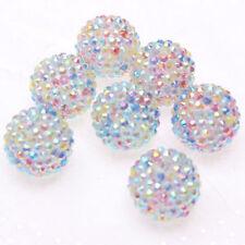 22mm 100pcs Rainbow Resin Rhinestone EASTER Beads Charm Bracelet Necklace