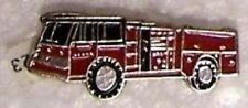 Hat Lapel Tie Tac Push Pin Fire Truck red NEW