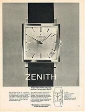 PUBLICITE ADVERTISING  1963   ZENITH   montre