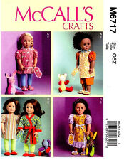 """Reduced!!  McCall's 6717 New 18"""" Doll Clothes, Mask, Slippers & Toys Pattern"""