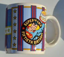 SUPERMAN 50th BIRTHDAY COMMEMORATIVE CERAMIC MUG 1986 DC