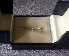 Splendido oro massiccio 18 Ct Reale Solitario Anello Di Diamanti-NO RISERVA