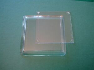 Ten Acrylic Clear Square Coasters (extra depth for craft) - 80mm x 80mm insert