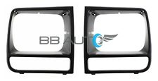NEW Front Headlight Bezel Trim Set Black fits 1997-2001 JEEP Cherokee SE Sport
