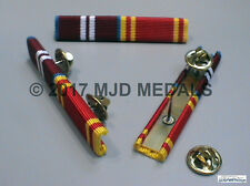 DIAMOND JUBILEE + FIRE SERVICE LONG SERVICE MEDAL RIBBON BAR