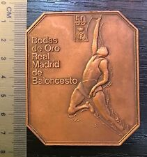 participation medal Real Madrir Spain basketball 1931-1981 sport