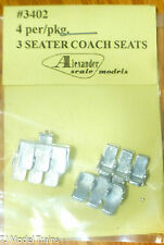 Alexander Scale Models #3402 (3 Seater Coach Seats) (Light Cast Metal)