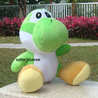 "Super Mario Bros Plush Toy Green Yoshi 13"" Large Dragon Stuffed Animal Soft Doll"